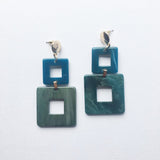 Valet toucan dark aqua Resin Earrings