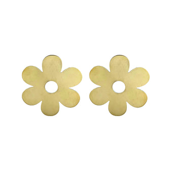 Cities in Dust Brass Daisy Earrings