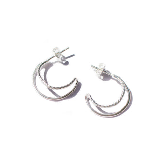 Flash Jewellery Double hoops Silver