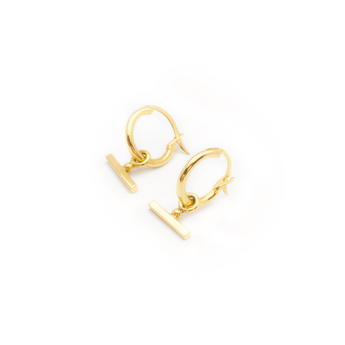Flash Jewellery Chloe Sleeper hoops Gold