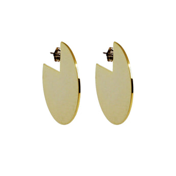 Young Frankk Circle Earrings Gold