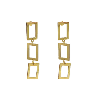 Disco Chain Earrings - Gold