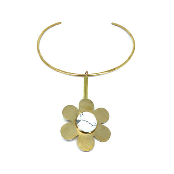 Cities in Dust Brass Daisy Choker