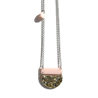 Splice Eclipse Necklace - Pink/Gold