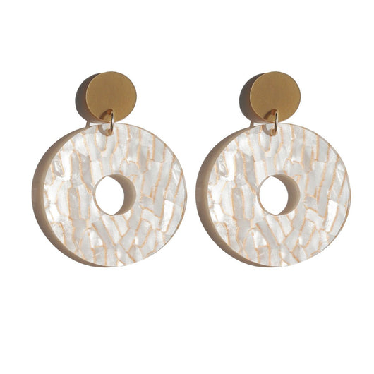 Martha Jean Gala Earrings Tiger White