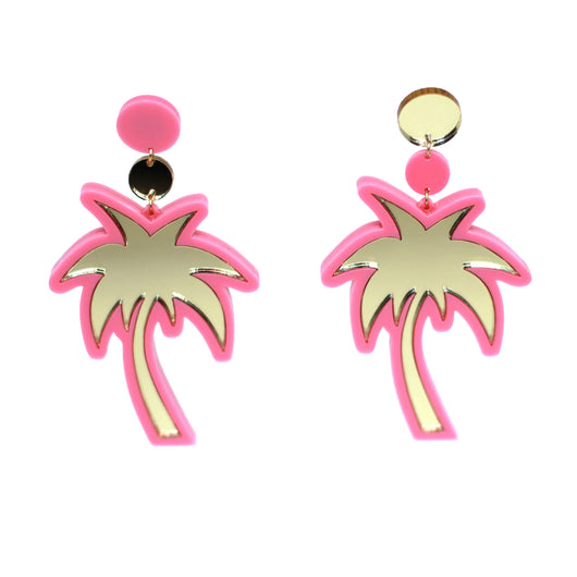 yippywhippy-pink-gold-metallic-palm-tree-statement-earrings