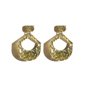 Martha Jean Large Drop Earrings Gold Silver