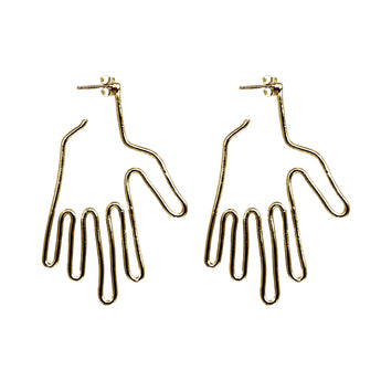 Hand Earrings - Gold