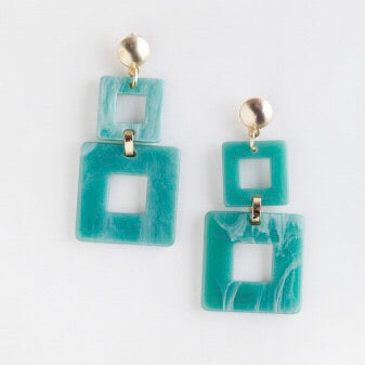 Valet toucan aqua Resin Earrings