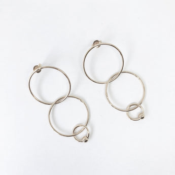Tilly Mini Multi Love Earrings Silver