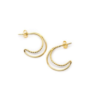 Flash Jewellery Double hoops Gold