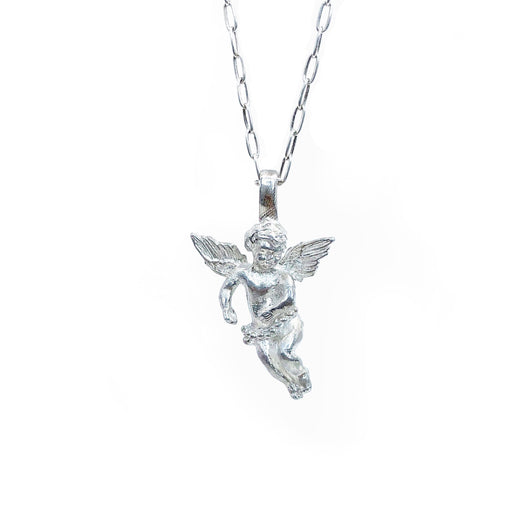 Angel Pendant and Chain Sterling silver Sacreflux