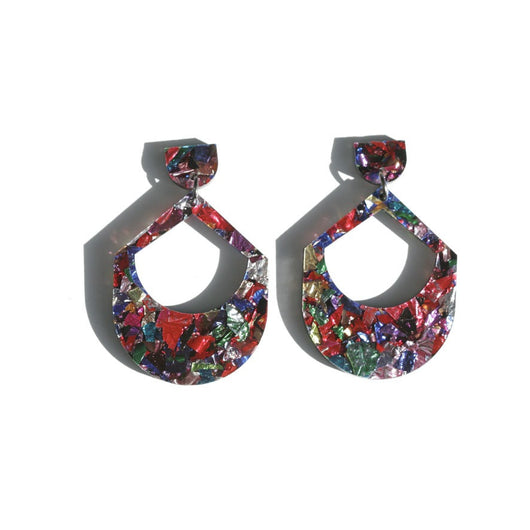 Large Drop Earrings - Confetti