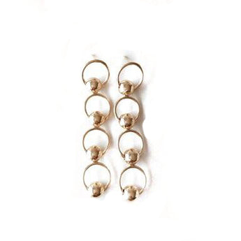 Tilly Mini Eliza Earrings Gold