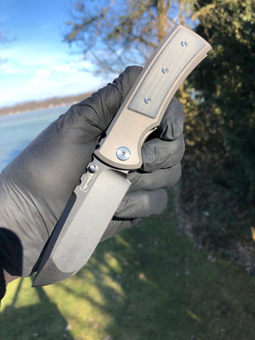 Chaves Ultramar Redencion Street: Drop Point, Black Micarta, PVD