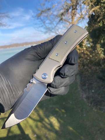 Chaves Ultramar Redencion Street: Tanto, Green Micarta, Machine Finish