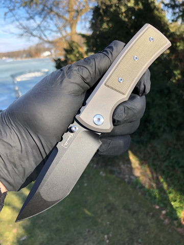 Chaves Ultramar Redencion Street: Tanto, Green Micarta, PVD