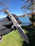 Curtiss Custom Knives Cruze Flipper: Carbon Fiber and Torched Ti