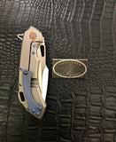 Olamic Cutlery Mid-Tech Wayfarer 247H: with Dragon Skin Damascus Stripe Inlay