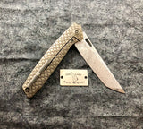We 604DST Tanto with Bronze Snakeskin Handles