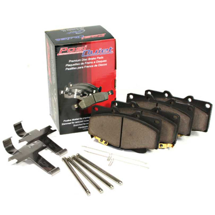 Centric POSI-QUIET Ceramic Brake Pads, 2016+ Honda Civic Sedan & Coupe - FRONT & REAR
