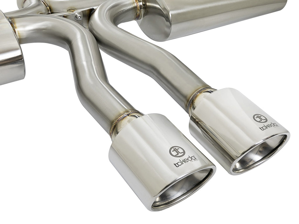 "aFe POWER Takeda 3"" to 2.5"" 304 Stainless Steel Cat Back Exhaust 2017+ Honda Civic Si (Sedan)"