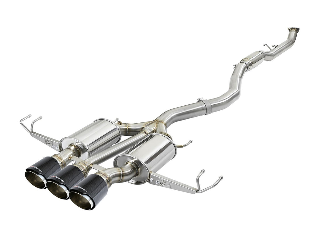 "aFe POWER Takeda 3"" 304 Stainless Steel Cat Back Exhaust  w/ Triple Tips 2017+ Honda Civic Type R"