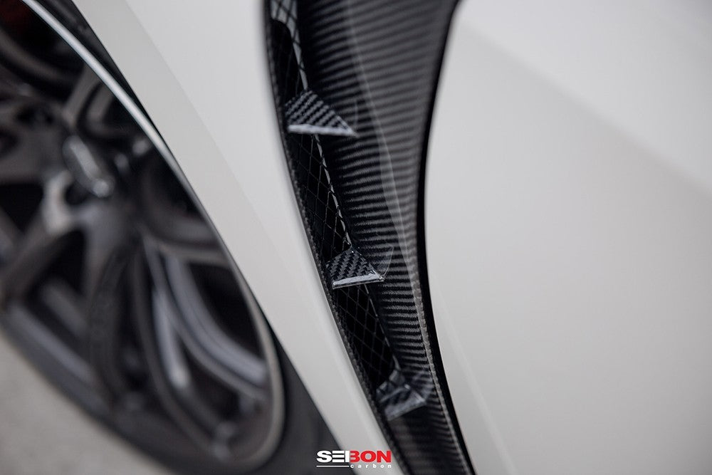 Seibon Carbon Fiber Fender Ducts 2017+ Honda Civic Type R