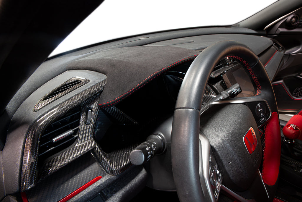 REVEL GT Dry Carbon Center Dash Cover w/ Alcantara 2016+ Honda Civic