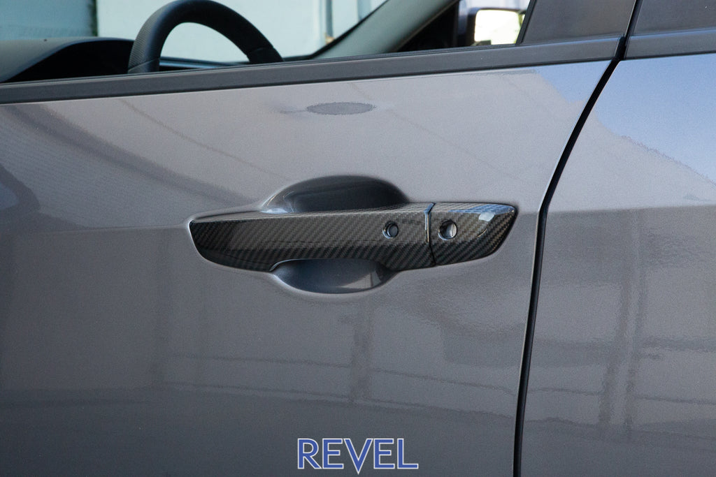 Revel GT Dry Carbon Door Handle Cover Set 2016+ Honda Civic (Exc Coupe)