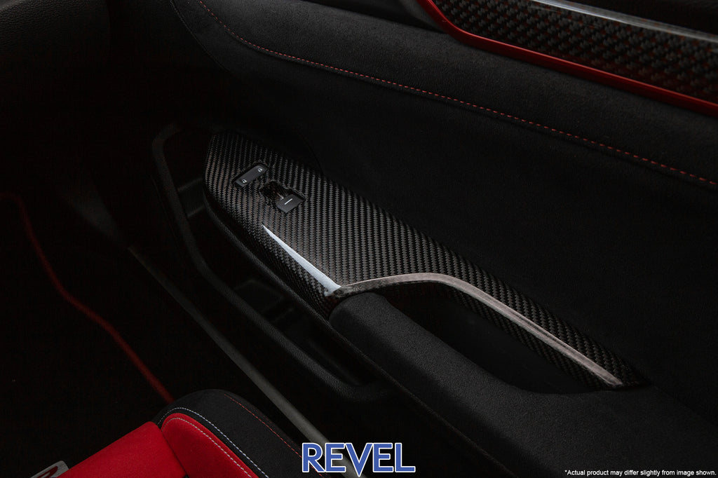 REVEL GT Dry Carbon Window Switch Panel Set 2016-18 Honda Civic (except Coupe)