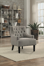 Load image into Gallery viewer, Nailhead Accent Chair 4 Colors to Choose! Teal, Taupe, Indigo and Chocolate!