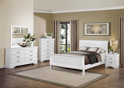 Snow White Sleigh Bedroom Set
