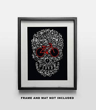 Load image into Gallery viewer, Bike Skull Fine Art Print - 11x14 Unframed Photo Art- Fun Gift