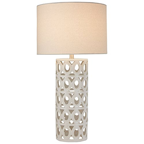 Stone & Beam Ceramic Geometric Table Lamp, 25