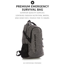 Load image into Gallery viewer, Sustain Supply Co. Essential 2-Person Emergency Survival Bag/Kit – Be Equipped for 72 Hours of Disaster Preparedness with Premium Basic Supplies for 2 People