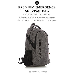 Sustain Supply Co. Essential 2-Person Emergency Survival Bag/Kit – Be Equipped for 72 Hours of Disaster Preparedness with Premium Basic Supplies for 2 People