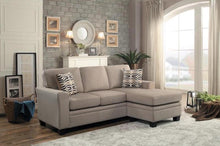 Load image into Gallery viewer, Light Brown Reversible Sofa with Chaise Lounge