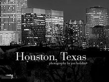 Load image into Gallery viewer, Houston Skyline PHOTO PRINT UNFRAMED NIGHT Black & White BW City Downtown 11.75 inches x 36 inches Texas Photographic Panorama Poster Picture