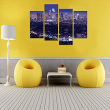 Load image into Gallery viewer, Live Art Decor - Los Angeles Skyline Picture Canvas Prints Modern California Summer Moon Night City Scene Wall Art for Home and Office Wall Decoration,Framed