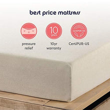 Load image into Gallery viewer, Best Price Mattress 6-Inch Memory Foam Mattress, Twin