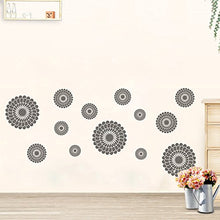 Load image into Gallery viewer, Dooboe Gray Flowers Wall Decal - Flower Wall Stickers - Peel and Stick Wall Decals
