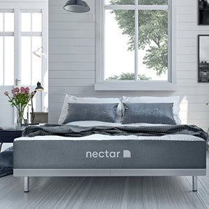 Nectar Queen Mattress + 2 Free Pillows - Gel Memory Foam - CertiPUR- US Certified - 180 Night Home Trial - Forever Warranty