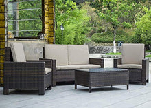 Load image into Gallery viewer, BestMassage 4 Pieces Outdoor Patio PE Rattan Wicker Sofa Sectional Furniture Set with Cushion