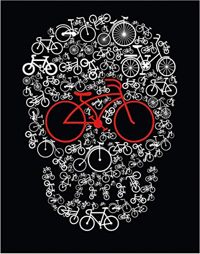 Bike Skull Fine Art Print - 11x14 Unframed Photo Art- Fun Gift