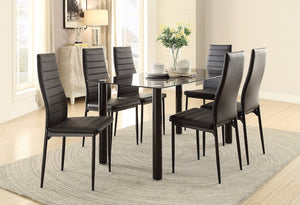 Ultra modern Styling Dinette Set 2 Colors Black or White