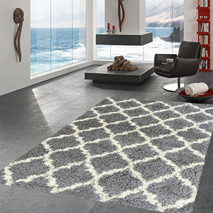 Ottomanson Collection shag Trellis Area Rug, 6'7