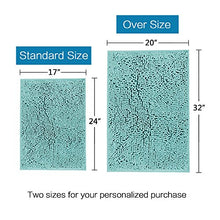 Load image into Gallery viewer, H.VERSAILTEX Microfiber Bath Rugs Chenille Floor Mat Ultra Soft Washable Bathroom Dry Fast Water Absorbent Bedroom Area Rugs, 17 x 24 - Inch, Duck Egg Shell Blue