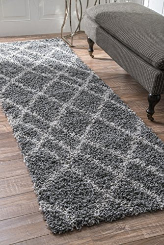 Cozy Soft and Plush Moroccan Easy Shag Runner Area Rug