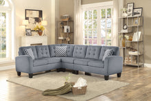 Load image into Gallery viewer, Gray Tufted Reversible Fabric Sectional Sofa 2 Colors! Gray & Chocolate